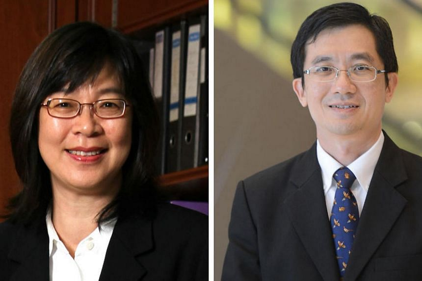 Solicitor-General Koh Juat Jong (left) will be succeeded by Senior Counsel Lionel Yee. -- FILE PHOTO: ATTORNEY-GENERAL'S CHAMBERS/ ST FILE PHOTO: DESMOND LIM