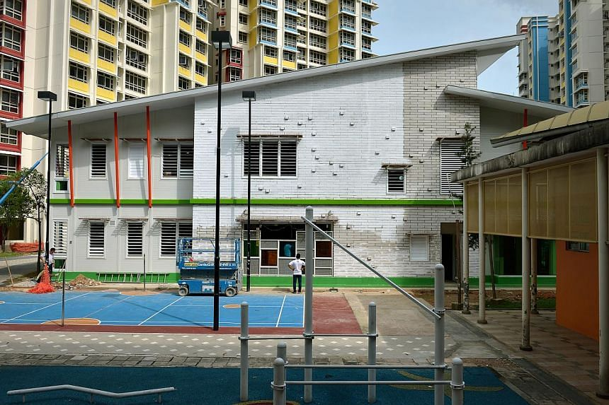 The My First Skool childcare centre at Block 269, Compassvale Link, is believed to be the first such facility to be built using prefabricated components. Parts, such as walls or doors, are assembled elsewhere, then transported to the construction sit