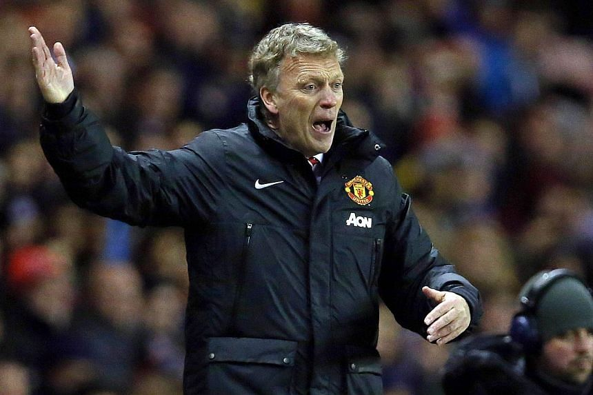 Manchester United's Scottish manager David Moyes at the match between Sunderland and Manchester United at the Stadium of Light in Sunderland on Jan 7, 2014. Moyes claimed that his side were being unfairly treated by referees after they slumped