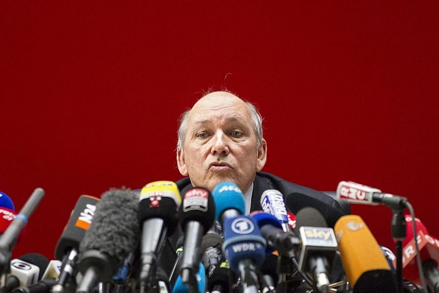 French prosecutor Patrick Quincy attends a news conference to speak about the ski accident of former Formula One champion Michael Schumacher, in Albertville.The French mountain slope on which former Formula One champion Michael Schumacher had a