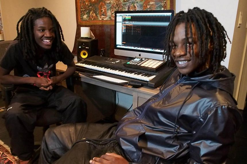 Anthony Bobb (left) and Dontray Ennis (right), whose rap names are Pacman and Peso respectively, posted their music video Escape To North Korea on their YouTube site on Tuesday. -- FILE PHOTO: AFP