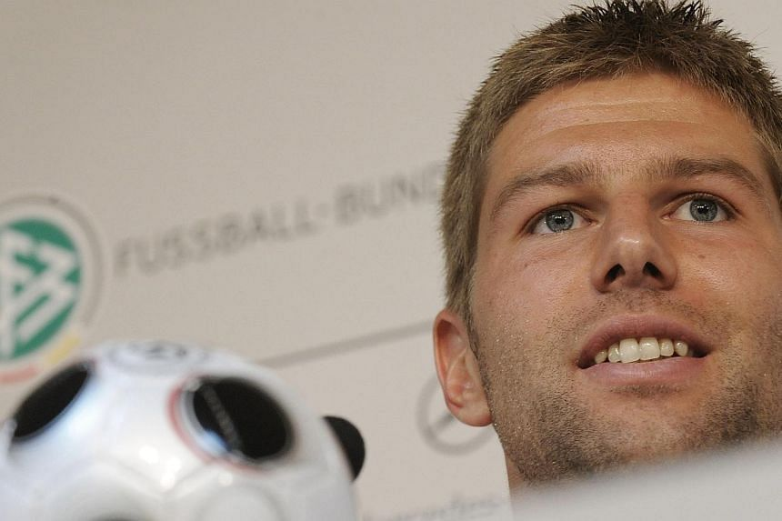 Former Germany midfielder Thomas Hitzlsperger has announced in a newspaper interview that he is gay. -- FILE PHOTO: AFP