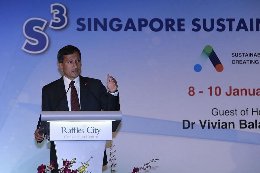Environment and Water Resources Minister, Vivian Balakrishnan, at the Singapore Sustainability Symposium 2014 Opening Ceremony organised by NTU's Sustainable Earth Office.Singaporewill this year embark on a national exercise to review how