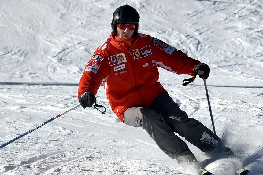 Former Formula One world champion Michael Schumacher skis in the northern Italian resort of Madonna Di Campiglio in this Jan 13, 2005. Investigators probing Michael Schumacher's accident on Wednesday ruled out faulty skis, inadequate signage an