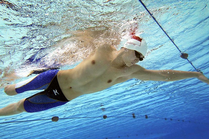 Manufacturing engineer and national disabled swimmer James Leow competing in the Asian Para Games that was held in Guangzhou, China in December 2010. Singapore will host its first Asean Para Games in two years' time. -- ST FILE PHOTO: NEO XIAOBIN