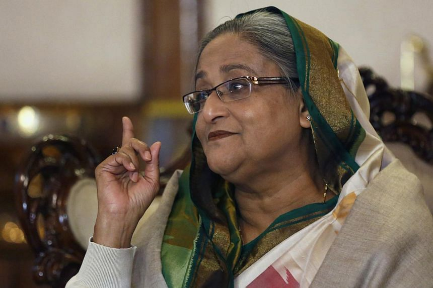 Bangladesh's Prime Minister Sheikh Hasina speaking during a media conference in Dhaka January 6, 2014. Bangladesh's ruling Awami League won a violence-plagued parliamentary election whose outcome was never in doubt after a boycott by the main opposit