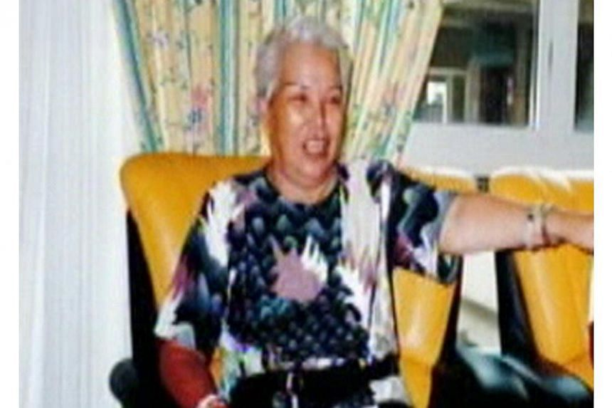Madam Ng Lai Poh, the 79-year-old mother ofSheng Siong supermarketsCEO Lim Hock Chee.-- PHOTO: INTERNET