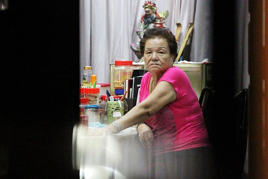 Madam Ng Lye Poh, the mother of supermarket chain head-honcho Lim Hock Chee, will not be attending a scheduled doctor's appointment on Friday. -- PHOTO: ZAO BAO