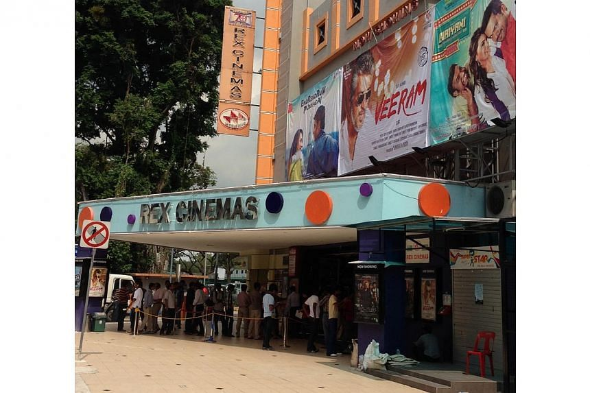 More than 100 viewers finally got to watch Tamil blockbuster Veeram on Friday after Rex Cinemas abruptly cancelled the premiere on Thursday evening because the theatre could not gain permission to screen the film in time. -- ST PHOTO: YEO SAM JO