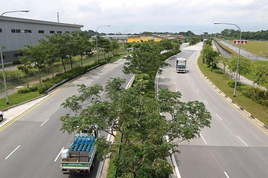 Madam Ng is believed to have been dropped off by her kidnappers along Seletar Aerospace Drive. -- ST PHOTO: SEAH KWANG PENG