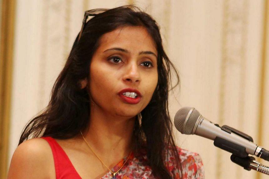 Photo of India's Deputy Consul General in New York Devyani Khobragade attending a Rutgers University event at India's Consulate General in New York last year. -- PHOTO: REUTERS