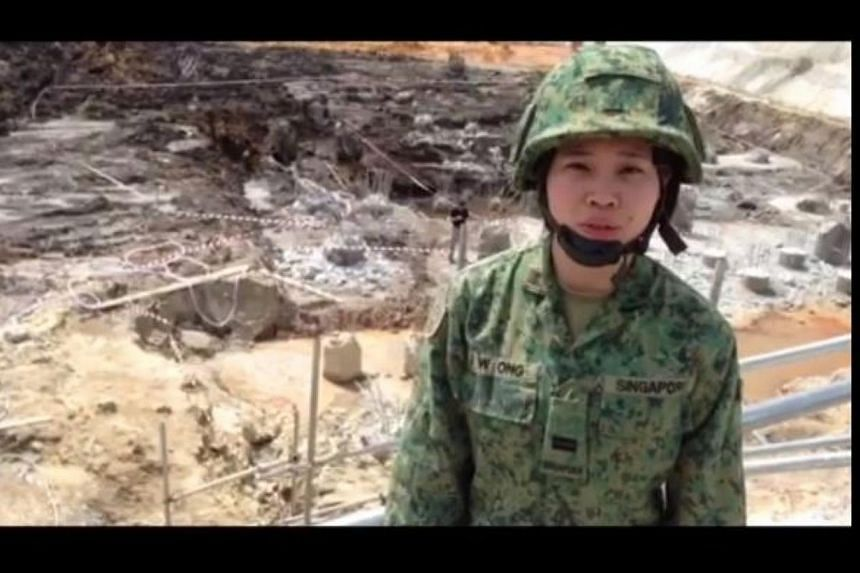 A suspected war relic was found at noon on Saturday, Jan 11, 2014, at a construction site near Tampines, said the Army in a video posted on the Singapore Army Facebook page.Lieutenant J. W. Ong (pictured), reporting for Army News, said soldiers