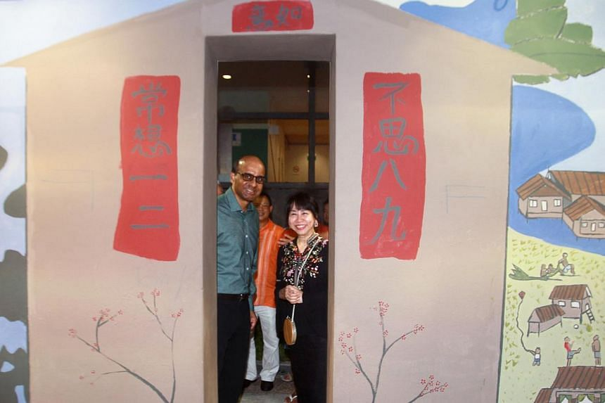 Our Museum @ Taman Jurong celebrated its first anniversary on Sunday with an open house for hundreds of residents.Deputy Prime Minister Tharman Shanmugaratnam (left), advisor to Taman Jurong Grassroots Organisations, was the guest of honour at