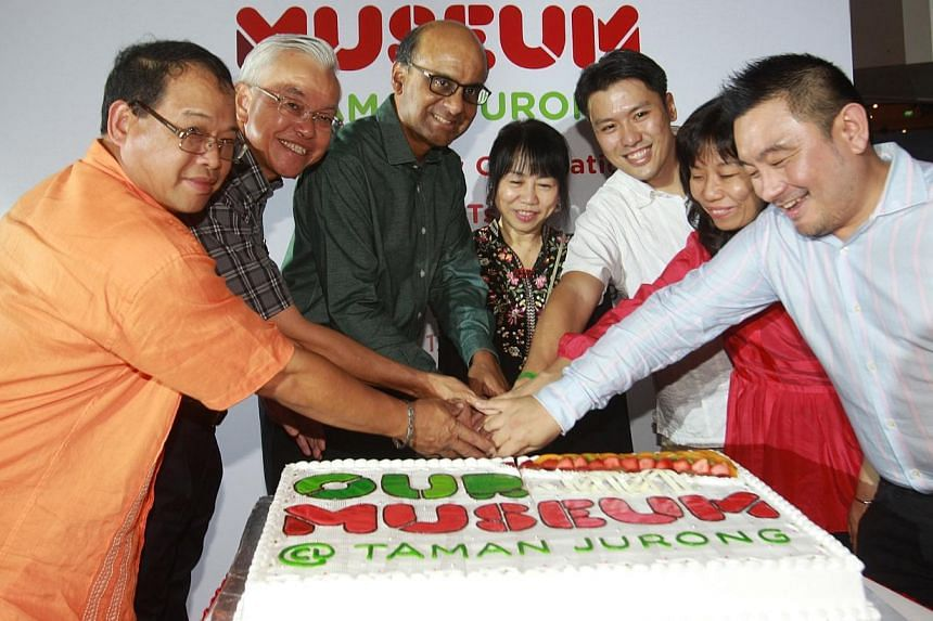 Our Museum @ Taman Jurong celebrated its first anniversary on Sunday with an open house for hundreds of residents.Deputy Prime Minister Tharman Shanmugaratnam (third from left), advisor to Taman Jurong Grassroots Organisations, was the guest of