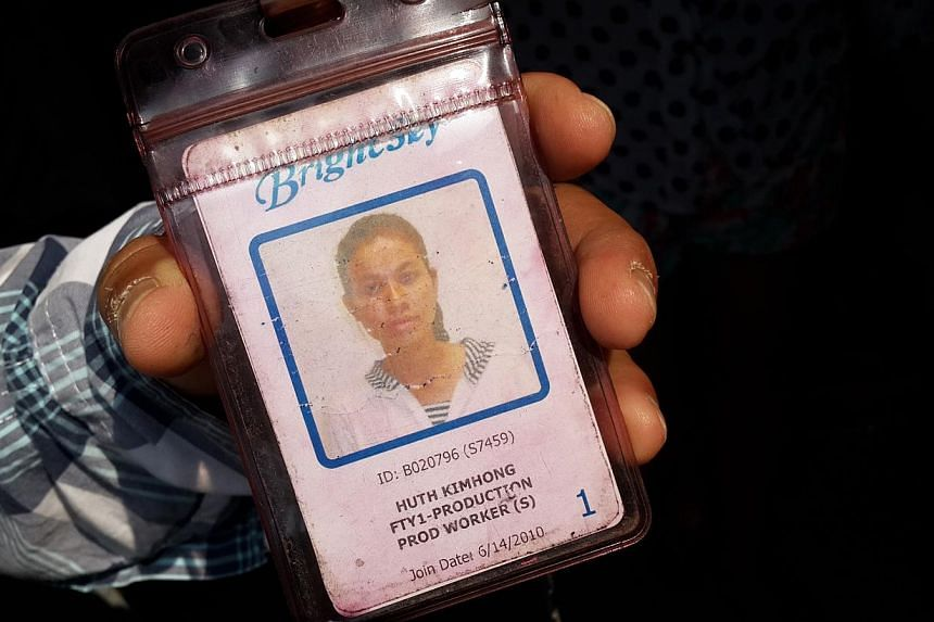 Picture shows an ID card of one of the workers. --STPHOTO: NIRMAL GHOSH
