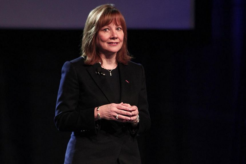 Ms Mary Barra, General Motors Senior Vice President of Global Product Development and GM CEO-elect, introduces the all-new 2015 GMC Canyon midsize truck at its world debut on the eve of the 2014 North American International Auto Show on Jan 12, 2014