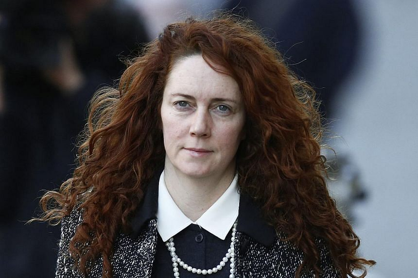 Former News International chief executive Rebekah Brooks arrives at the Old Bailey courthouse in London, on Jan 14, 2014.The trial of Rebekah Brooks, who ran Rupert Murdoch's British newspaper arm, was shown film footage on Tuesday of her husba