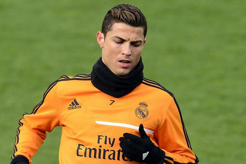 Real Madrid's Portuguese forward Cristiano Ronaldo takes part in a training session at Real Madrid's sport city in Madrid, on Jan 14, 2014. Carlo Ancelotti never expected Ballon d'Or winner Cristiano Ronaldo to have the strong work ethic he possesses