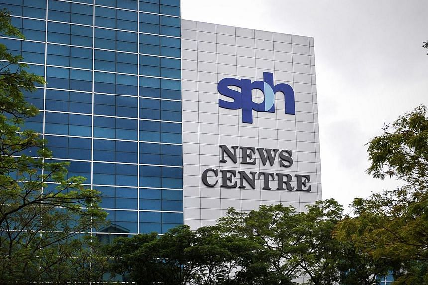 The Singapore Press Holdings (SPH) News Centre in Toa Payoh North. SPH reported that first quarter net profit dipped 6.6 per cent as part of the profits from the recently-listed SPH Reit has to be paid out to minority shareholders.-- ST FILE PH