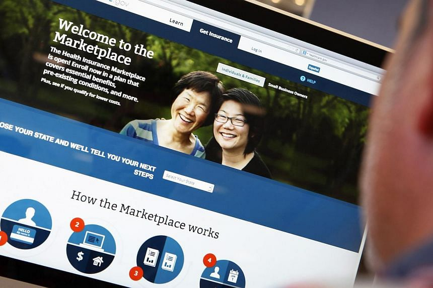 The Affordable Care Act (commonly known as Obamacare) signup page on the HealthCare.gov website in October 2013. About 24 per cent of people who signed up online for US President Barack Obama's trouble-plagued signature health-care plans in 2013 were