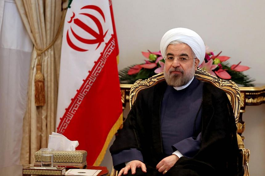 """Mr Hassan Rouhani's comment, on his official Twitter account, played into complaints of hawkish members of the US Congress that the deal, due to come into force on Jan 20, gave too much up to Iran for too little in return.""""Our relationship w/ t"""