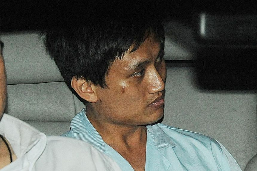 Mohamed Redha Abdul Mutalib,32, who repeatedly stabbed his mother to death after voices in his head told him to do so, was on Wednesday, Jan 15, 2014, acquitted of murder in the High Court on grounds of temporary insanity.-- FILE PHOTO: S