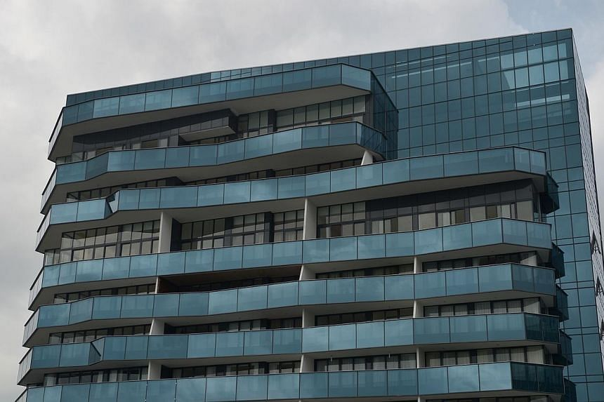 Marina Bay Suites, which made the news after a fire broke out on its 65th floor on Monday night killing two security guards, is currently the 13th tallest building in the Republic at 227m high.Marina Bay Residences nearby is also 227m high. --