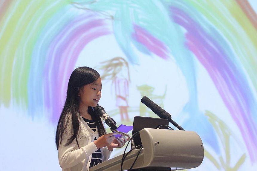 In a Facebook post on Tuesday evening, Mr Shanmugam said he was very impressed with Megan's speech and shared the full text of her keynote, adding that she wrote the speech herself. -- ST PHOTO: ONG WEE JIN