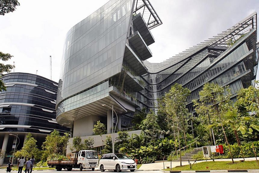 Facade of the Sandcrawler building on Jan 16, 2014. -- ST PHOTO: KEVIN LIM