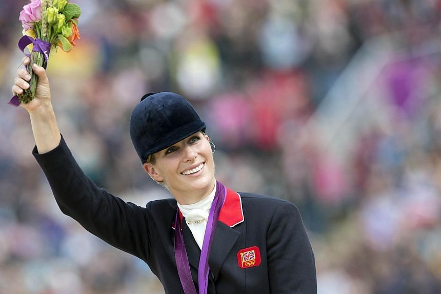 Queen Elizabeth II's granddaughter Zara Phillips gave birth to a baby girl on Friday, Buckingham Palace announced. -- FILE PHOTO: AFP