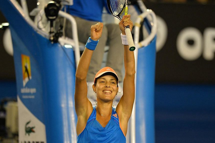 Serbia's Ana Ivanovic reacts after winning against Australia's Samantha Stosur on Day Five of the 2014 Australian Open tennis tournament in Melbourne on Jan 17, 2014. Ivanovic , a resurgent former world number one, says she is excited by the prospect