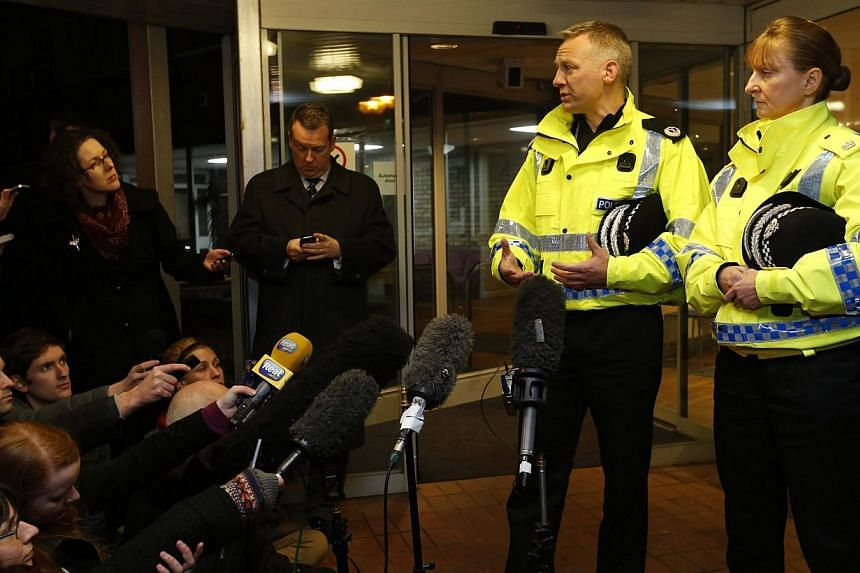 Assistant Chief Constable Malcolm Graham and Superintendent Liz McAinsh (right) brief the media regarding missing three year old Mikaeel Kular in Edinburgh, Scotland January 17, 2014. Scottish police said Saturday they had found the body of a three-y