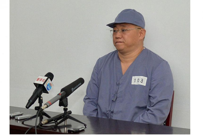 Kenneth Bae, the US citizen jailed in North Korea for more than a year, appealed to go home at a brief news conference in Pyongyang, reported on Monday, Jan 20, 2014. -- PHOTO: REUTERS / KYODO