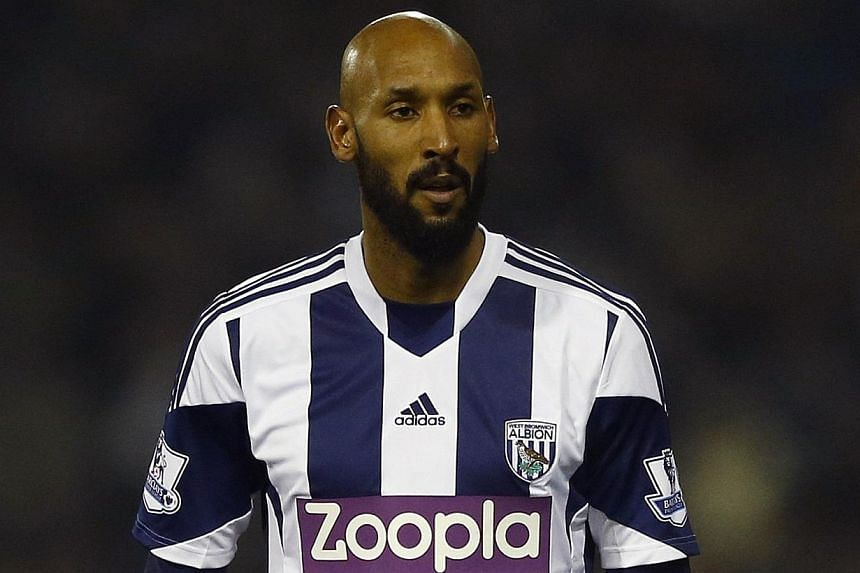 West Bromwich Albion's Nicolas Anelka looks on during their English Premier League soccer match against Everton at The Hawthorns in West Bromwich, central England on Jan 20, 2014. West Bromwich Albion announced Monday they would not renew their deal