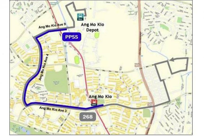 Peak Period Short Service for SBS Transit feeder bus service 268:Ang Mo Kio MRT Station to Ang Mo Kio Avenue 9.Plans to rope in private bus operators to beef up services gathered speed as three companies were awarded contracts worth $5 mi