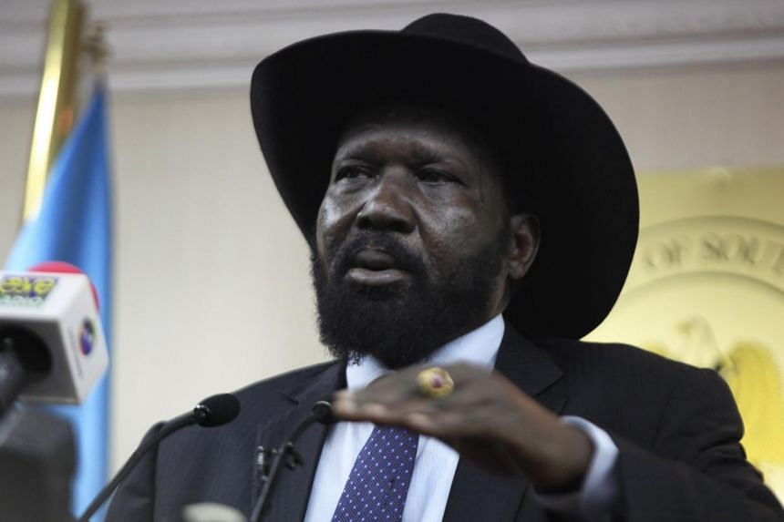 South Sudan's President Salva Kiir speaks during a news conference in Juba Jan 20, 2014. -- PHOTO: REUTERS