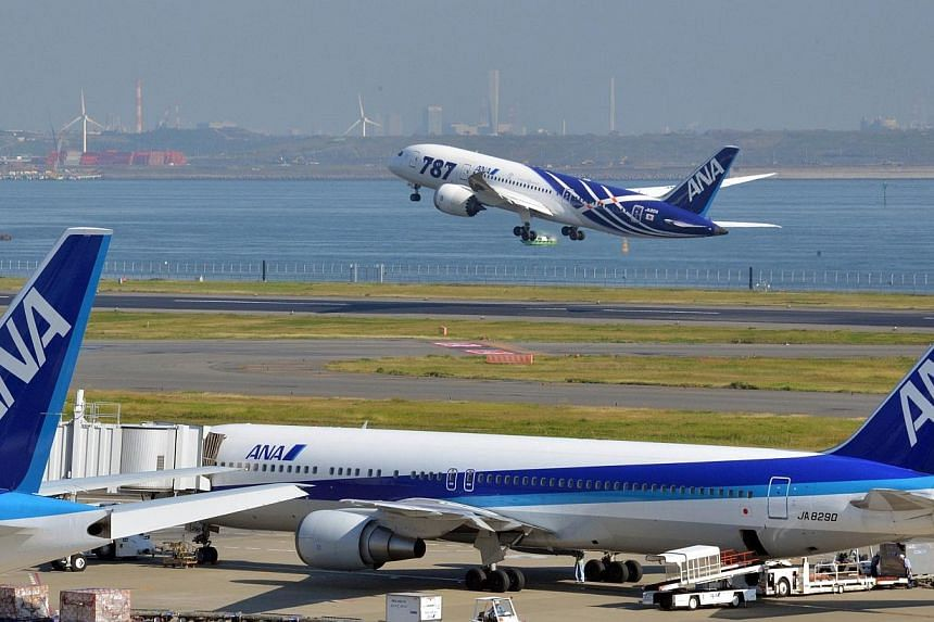 Japan's largest carrier All Nippon Airways said on Tuesday, Jan 21, 2014, it was pulling a TV advertisement featuring a Japanese actor in a large false nose and blonde wig after it was criticised online for having racist overtones. -- FILE PHOTO: AFP