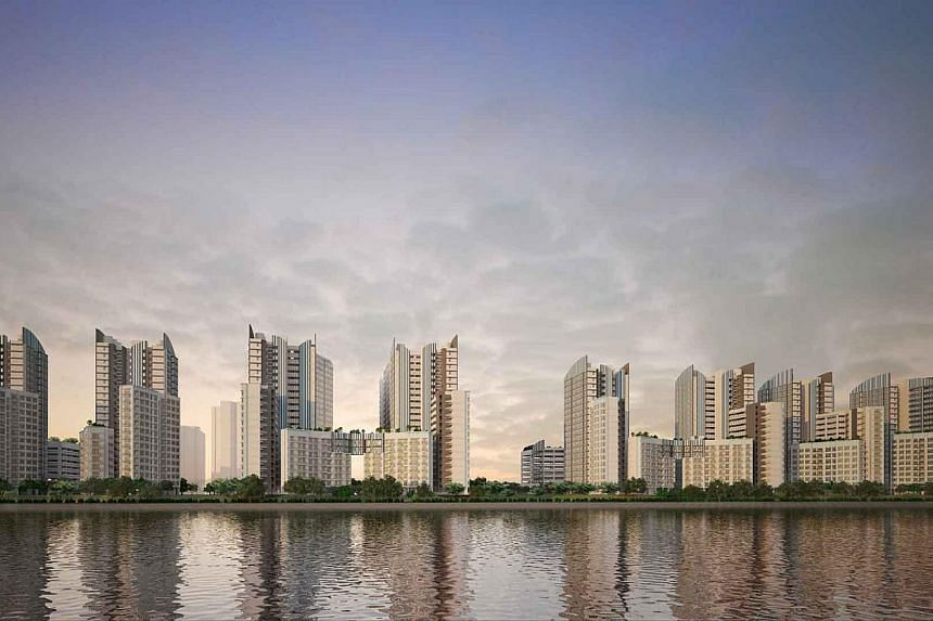 Punggol BayView. The Housing Board launched 3,139 new flats on Wednesday in the first Build-to-Order exercise of the year, which also marks the start of the gradual slowing of flat supply. -- PHOTO: HOUSING AND DEVELOPMENT BOARD