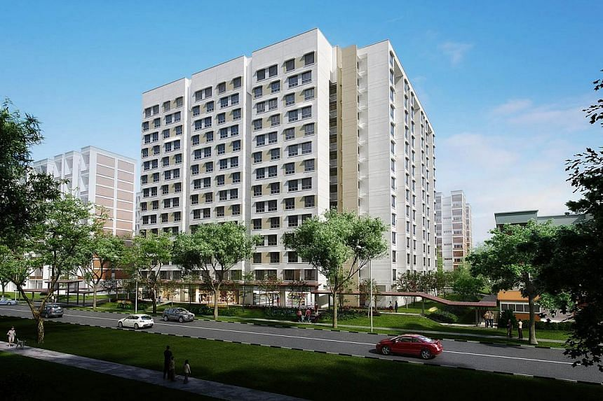 Golden Ginger. The Housing Board launched 3,139 new flats on Wednesday in the first Build-to-Order exercise of the year, which also marks the start of the gradual slowing of flat supply. -- PHOTO: HOUSING AND DEVELOPMENT BOARD