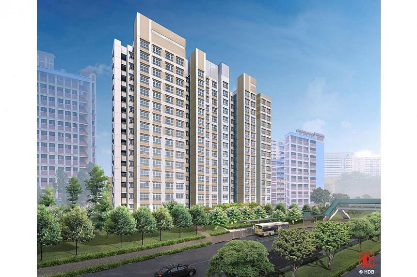 Golden Lavender. The Housing Board launched 3,139 new flats on Wednesday in the first Build-to-Order exercise of the year, which also marks the start of the gradual slowing of flat supply. -- PHOTO: HOUSING AND DEVELOPMENT BOARD