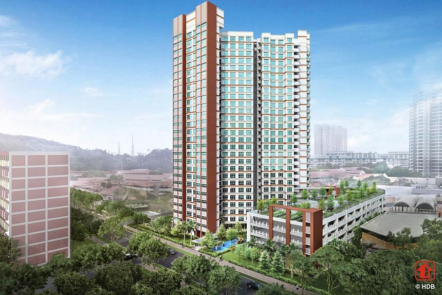 Bukit Gombak Vista. The Housing Board launched 3,139 new flats on Wednesday in the first Build-to-Order exercise of the year, which also marks the start of the gradual slowing of flat supply. -- PHOTO: HOUSING AND DEVELOPMENT BOARD