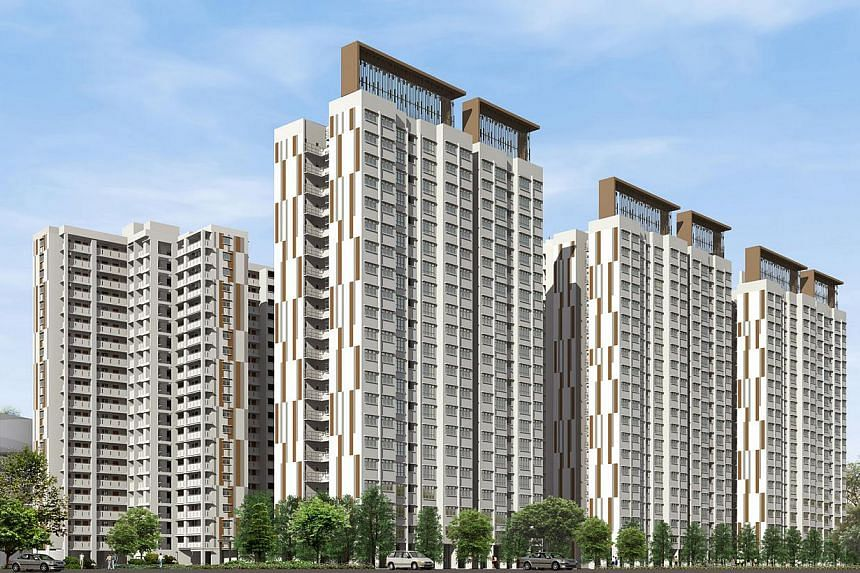 Punggol Vue. The Housing Board launched 3,139 new flats on Wednesday in the first Build-to-Order exercise of the year, which also marks the start of the gradual slowing of flat supply. -- PHOTO: HOUSING AND DEVELOPMENT BOARD