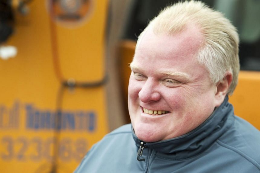 Toronto Mayor Rob Ford attends a news conference at a city public works yard to discuss the city's winter snow plowing agenda in this Dec 6, 2013, file photo. Mr Ford, who pledged last year to go clean after a crack-smoking scandal, admitted on Jan 2