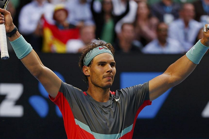 Rafael Nadal of Spain celebrates defeating Kei Nishikori of Japan during their men's singles match at the Australian Open 2014 tennis tournament in Melbourne on Jan 20, 2014. A psychologist has urged TV commentators and fans not to mock Nadal's