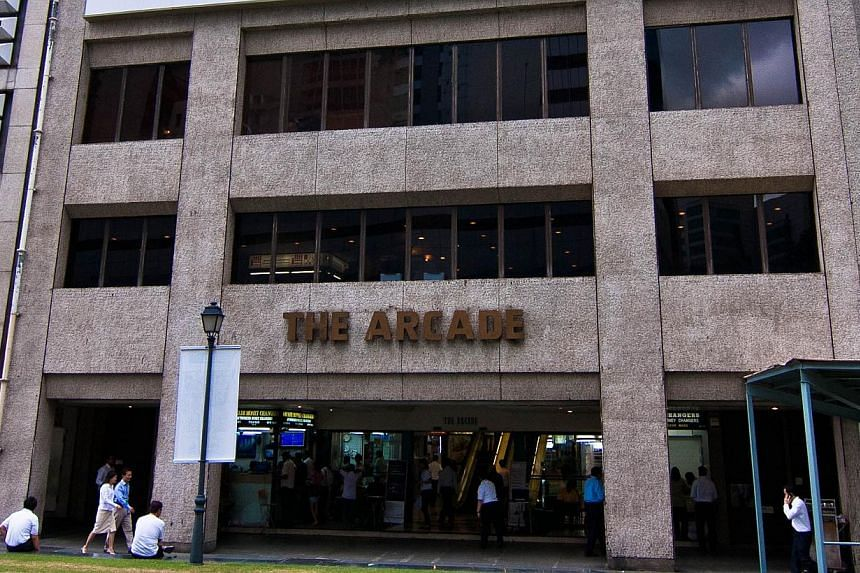 A familiar Raffles Place landmark, The Arcade, is being put up for sale by tender. -- PHOTO:COLLIERS INTERNATIONAL