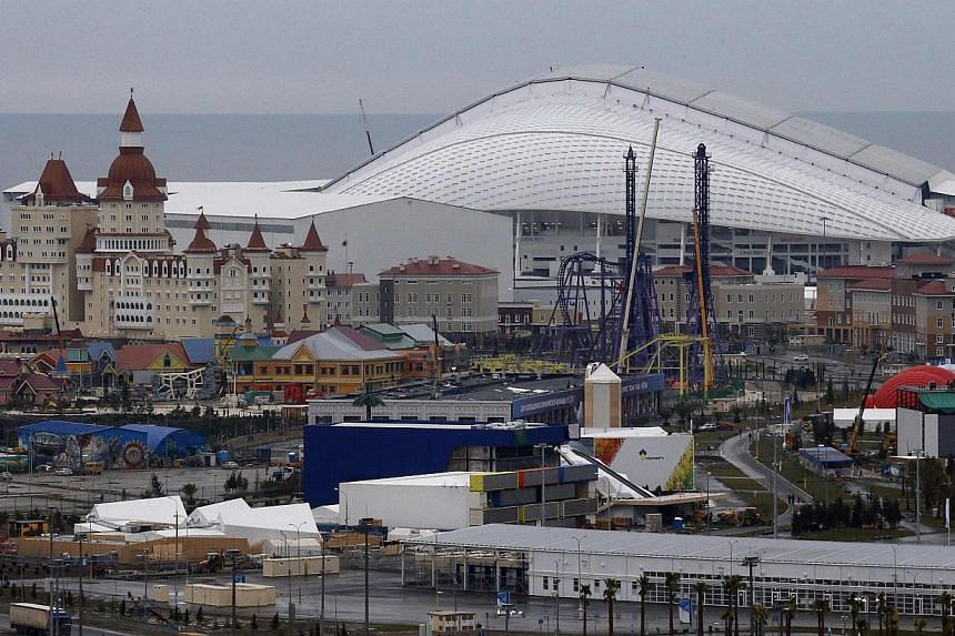 A general view of Fisht Olympic Stadium is seen in the Olympic Park at the Adler district of Sochi Jan 20, 2014. Police have killed a senior Islamist militant in Russia's North Caucasus ahead of the Winter Olympics in Sochi, where security force