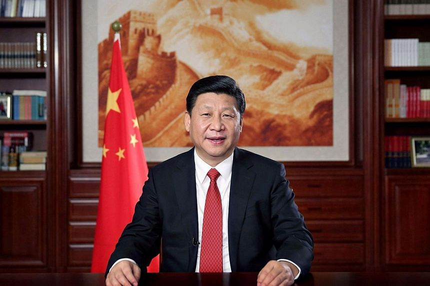 China's President Xi Jinping delivers his new year's speech in front of state media in Beijing, December 31, 2013.China has created six teams to supervise its boldest economic and social changes in 30 years, with President Xi Jinping and Premie