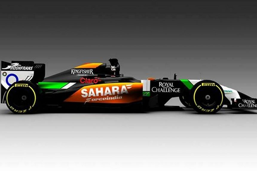 Force India on Wednesday became the first Formula One team to reveal their new car, the VJM07, for the 2014 season. -- PHOTO: SAHARA FORCE INDIA VIA FACEBOOK