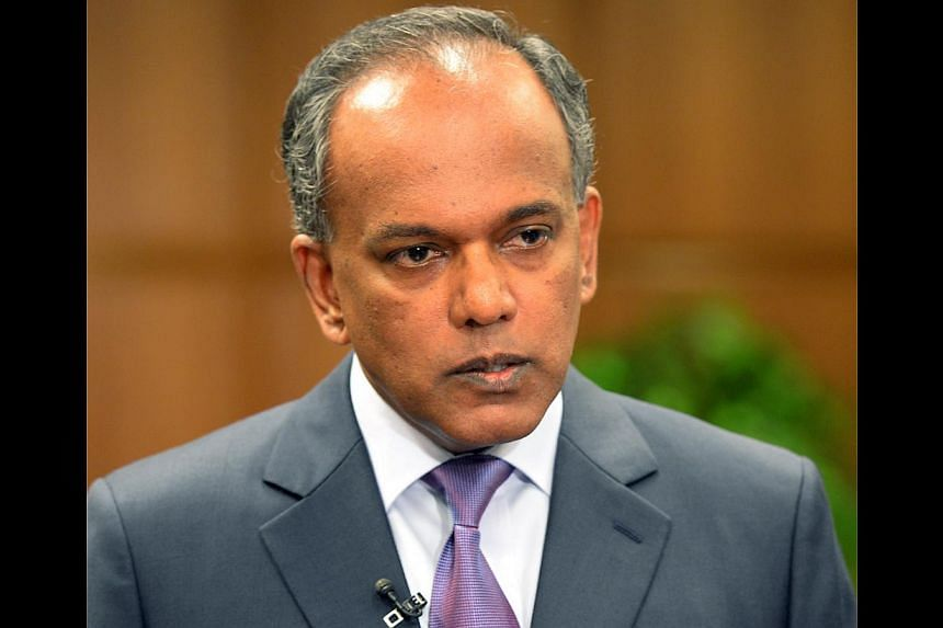 """Law Minister K. Shanmugam said he was """"terribly upset and offended"""" by Briton Anton Casey's comments which referred to public transport commuters in Singapore as """"poor people"""". But he urged Singaporeans not to flame the Briton's family because """"Singa"""