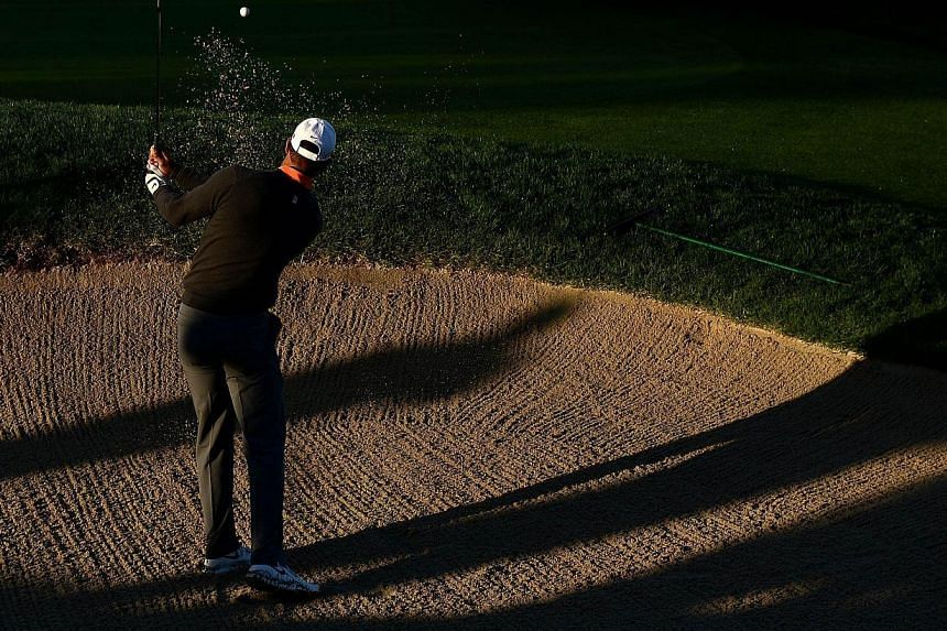 Tiger Woods hits out of the bunker during the Zurich ProAm the Farmers Insurance Open at Torrey Pines Golf Course on Jan 22, 2014 in La Jolla, California.Woods says he still feels in the prime of his career, but admits time is vanishing in his